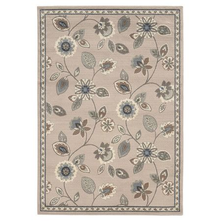 Max Floral Stone & Blue Rug