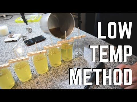 Using The Low Temp Method To Make Soy Candles Youtube Soy Candles Soy Wax Melts Candle Making