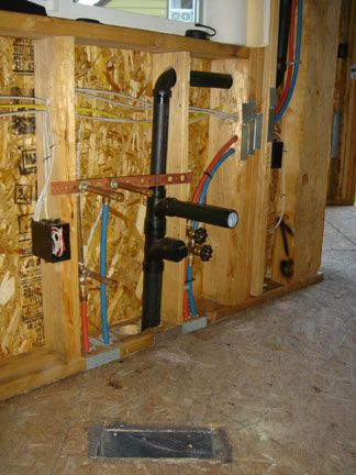 Plumbing pex water lines drain waste vent sink install for How much does pex cost