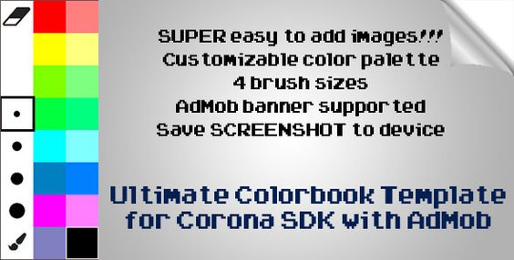 This Is A Corona SDK Template Featuring Coloring Book Style App With AdMob Banners IntegratedDISCLA
