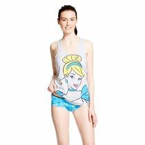 Conjunto Pijama Cinderella Feminino Camiseta Disney