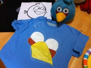 simple angry bird tshirt. Husband might actually wear this!