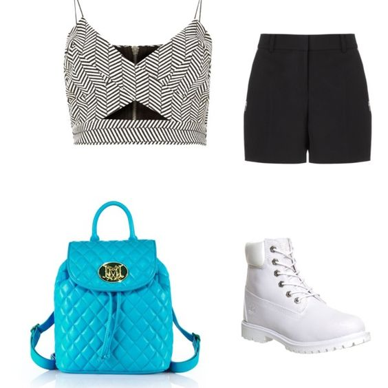 Yamkela by nontuthukohlophe on Polyvore featuring River Island, Alexander Wang, Timberland and Love Moschino