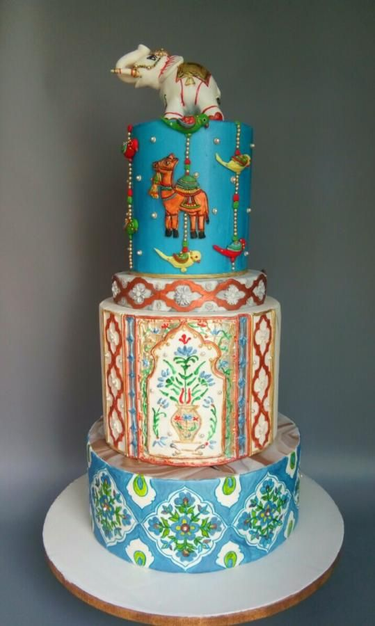 Rajasthan's art and craft - cake by Chanda Rozario