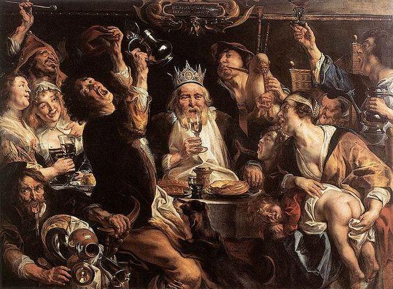 Jacob Jordaens: Bellas Artes, Drinks 1640, Google Images, Art Jacob Jordaens, King, Arte Selecto