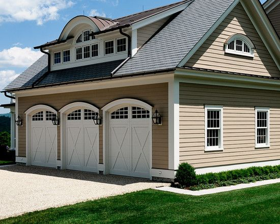 3 Bay Garage With Living Space Above Dream Homes
