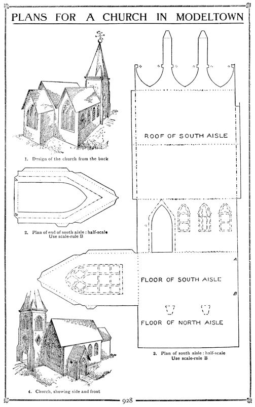 3D Church Template | Family Fun Project: A Church Model Out of Paper