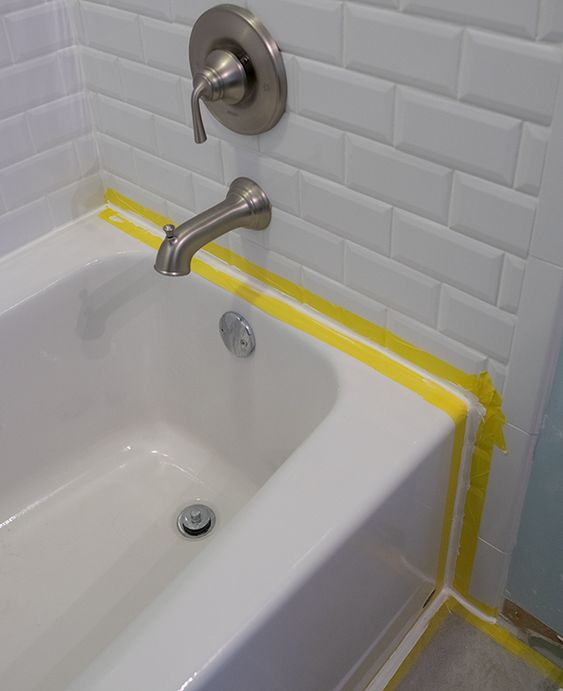 How To Caulk A Bathtub Diy Bathtub Diy Bathroom Remodel