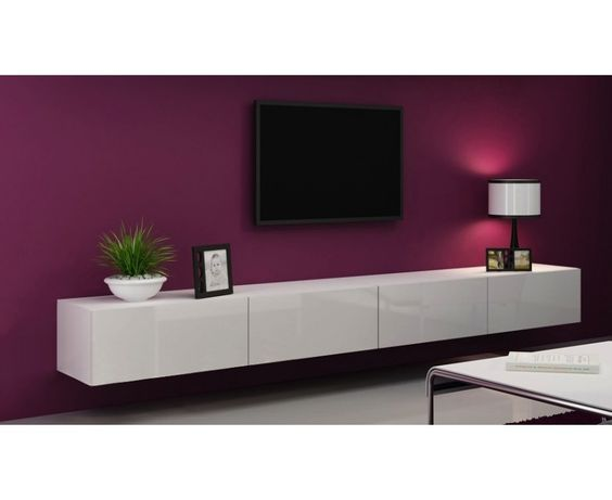 nasmaak victor zwevend design tv meubel hoogglans 280 cm. Black Bedroom Furniture Sets. Home Design Ideas