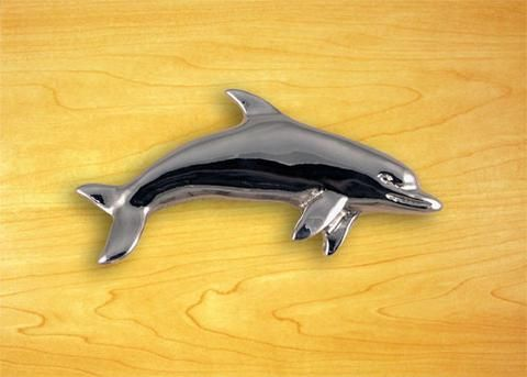 Dolphin Drawer Pull - Left Facing Right
