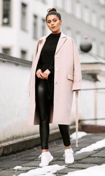 Look Sobretudo + Legging Vinil | Roupas moda inverno, Roupas
