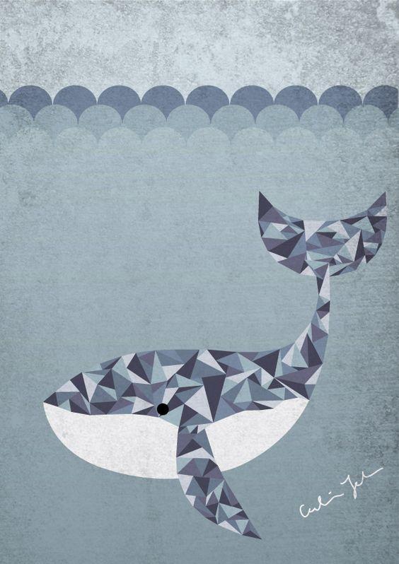 Whale Illustration, Caroline Johansson