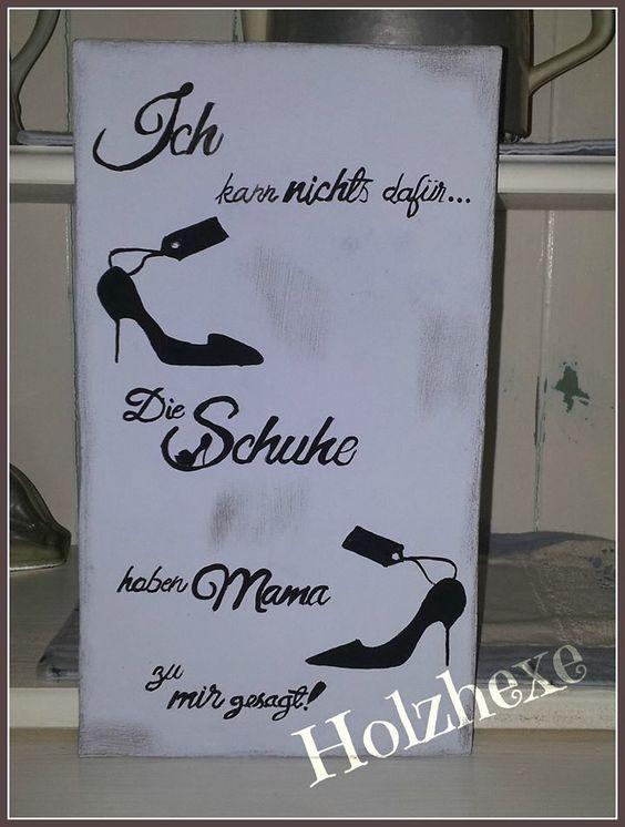 Schild für Schuhschrank