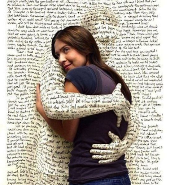 Image result for word hugging girl