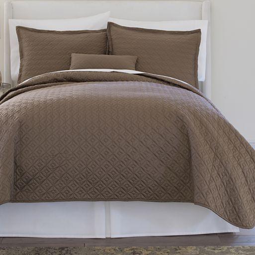 Royal Velvet 174 400tc Wrinkleguard Quilted Coverlet