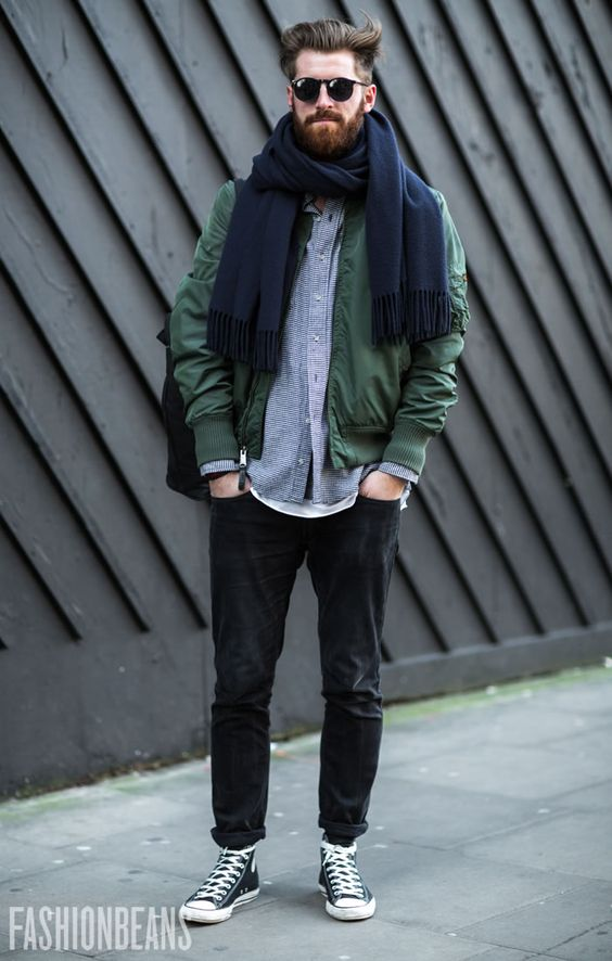 Another nice use of layering, love the bomber in an interesting colour. Bomber would suit you.