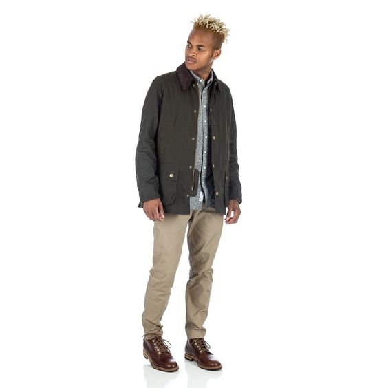Ashby Wax Jacket in Olive