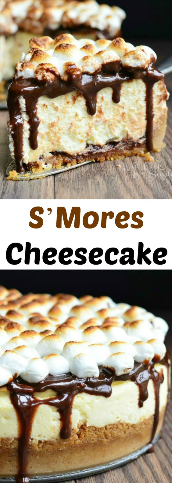 THE S'Mores Cheesecake Recipe. Smooth cheesecake made with a layer ...