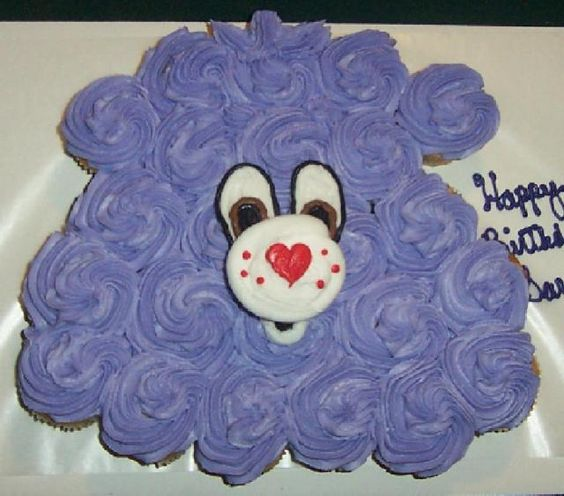 Carebear Cupcake cake: