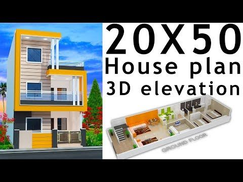 20x50 House Plan With 3d Elevation By Nikshail Youtube House Plans My House Plans Small House Design Plans