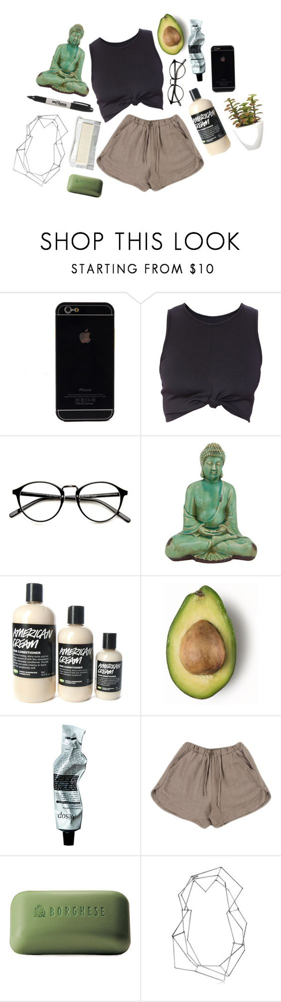 """Exposed sunlight"" by avocadokiddo ❤ liked on Polyvore featuring Sharpie, Aesop, Borghese, BANCI GIOIELLI, Pomax, Summer, indie and artsy"