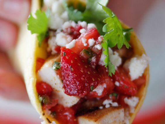 Grilled Chicken Tacos with Strawberry Salsa