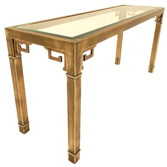 Good Mastercraft Furniture For Sale #14: 1970s Mastercraft Furniture Brass Console Table Chinoiserie