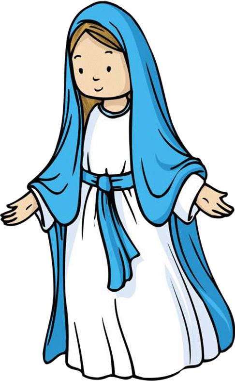 clipart of mother mary - photo #3