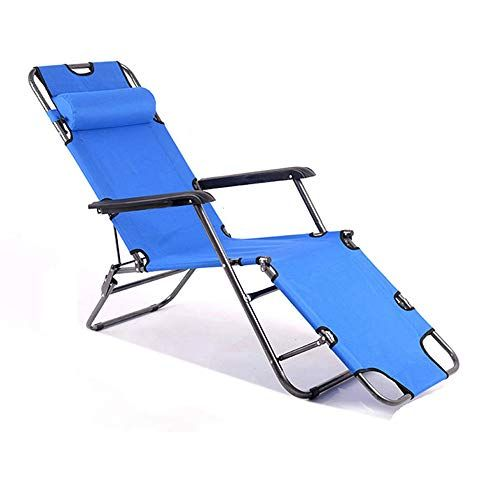 Fh Deck Chair Lazy Lunch Break Office Portable Hospital Accompanying Dual Use Deck Chair Blue Deck Chairs Patio Chairs Outdoor Chairs