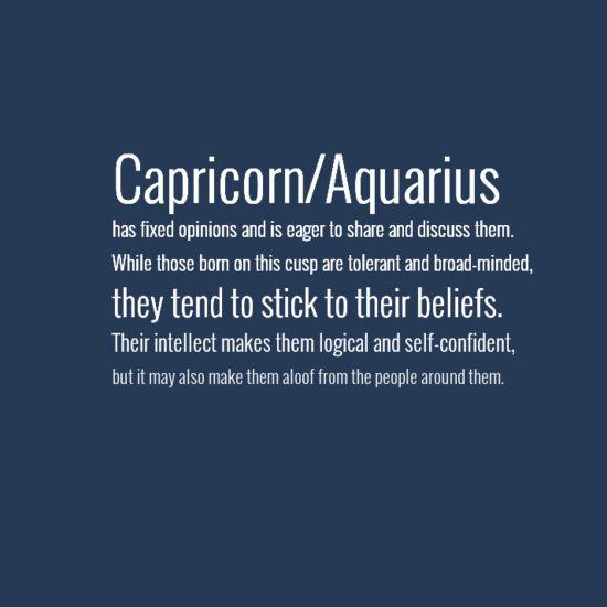 Capricorn Aquarius Cusp - the best guess approach