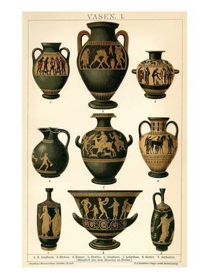 Greek Vases Print | Greek pottery, Antique pottery, Antique