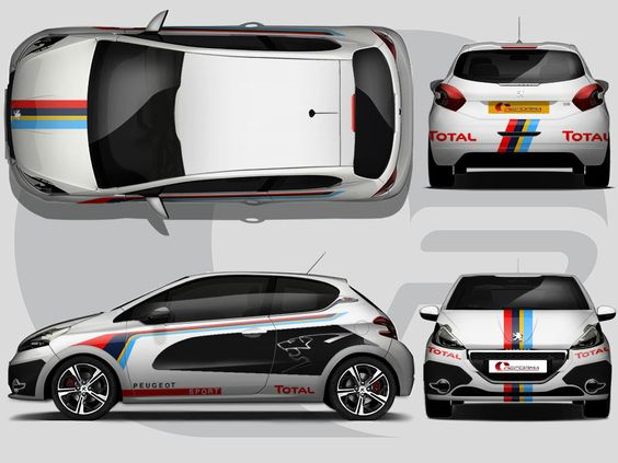 This full wrap takes inspiration from the Peugeot race cars with an added Reforma touch. It features Peugeot graphics with colourful stripes and an aggressive lion design.  Would you like a wrap themed to a different race car, or would you like graphics designing for your race team? Which ever fits you, please call us on 0844 880 5380 and we can produce the perfect design.