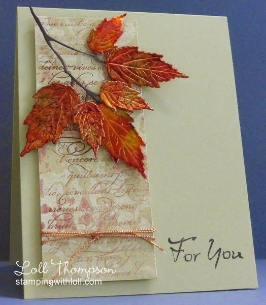 Hi everyone. I love this time of year with the autumn leaves falling from the trees - so...: