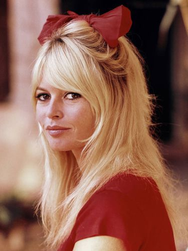 7 Iconic Celeb Hairstyles That Always Look Current- CLASSIC Brigette Bardot.  she resembles today's Rachel Zoe a little bit, no?