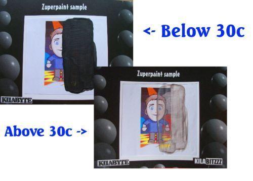Vernice Termocromatica Pittura Nera Cambia Colore Con Temperatura | eBay