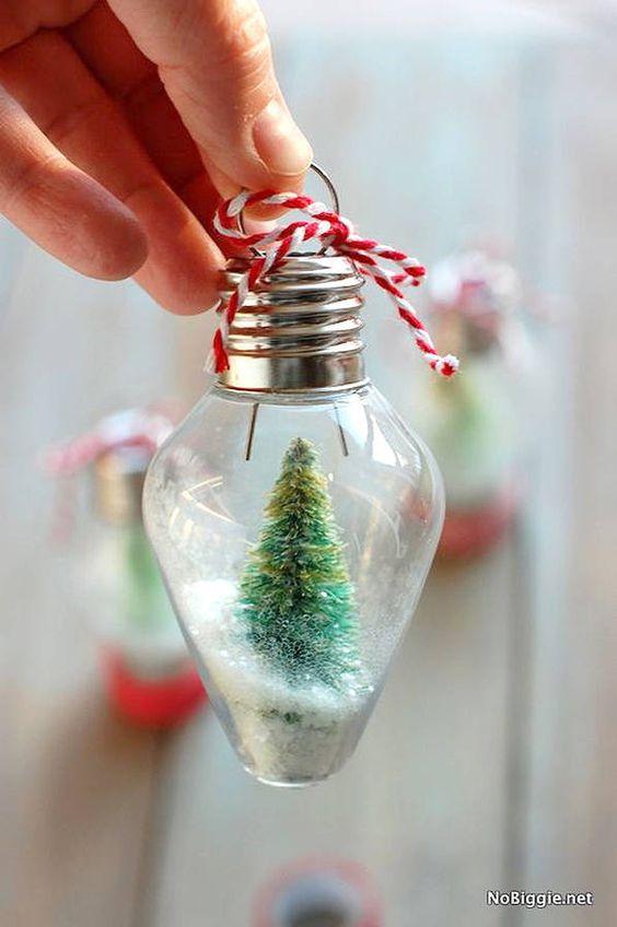 D Coration De No L Diy Boule Neige Kerst Pinterest Bricolage