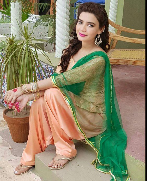 Summer Shalwar Kameez Designs printed Peach outfit