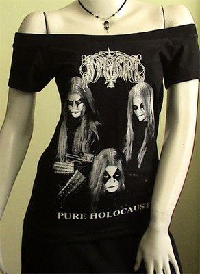 "EBAY IMMORTAL ""Pure Holocaust"" Metal DIY Women Top Shirt size M by obskura, STARTS $9.99 BIG DEAL!!!"