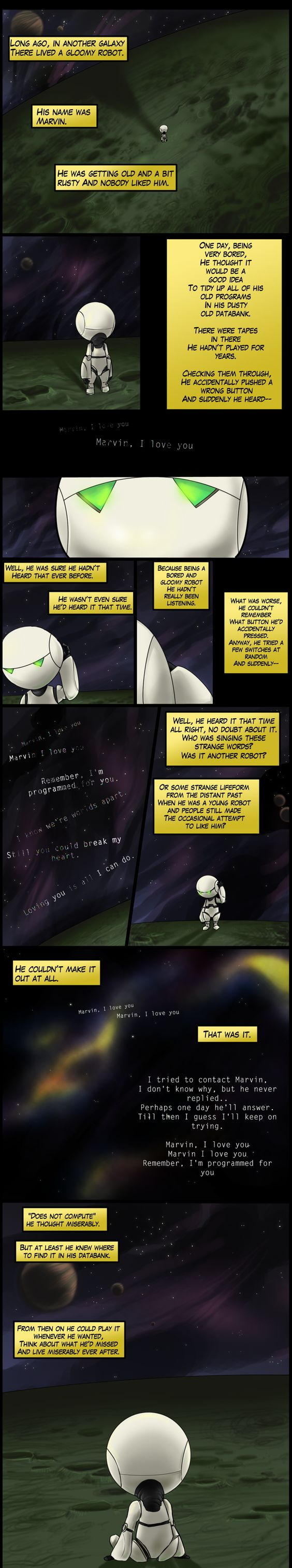 Marvin the Paranoid Android from The Hitchhiker's Guide to the Galaxy by erupan