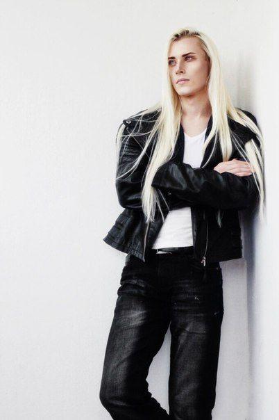 Russian male model Valery K. (men w/long hair):