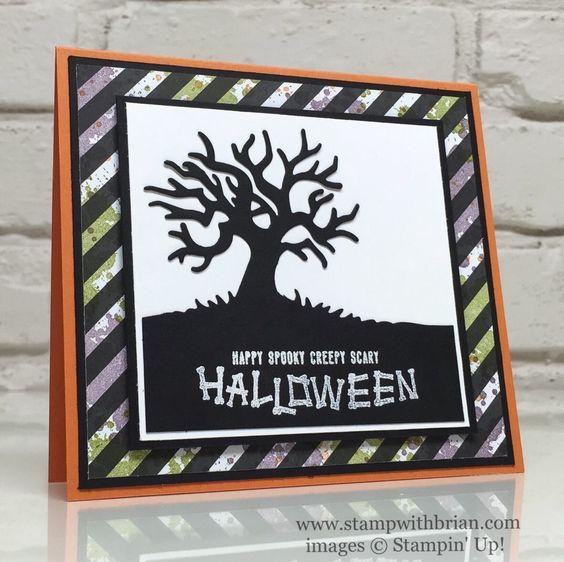 Halloween Scenes Edgelits, Mr Funny Bones, Gorgeous Grunge, Stampin' Up!, Brian King