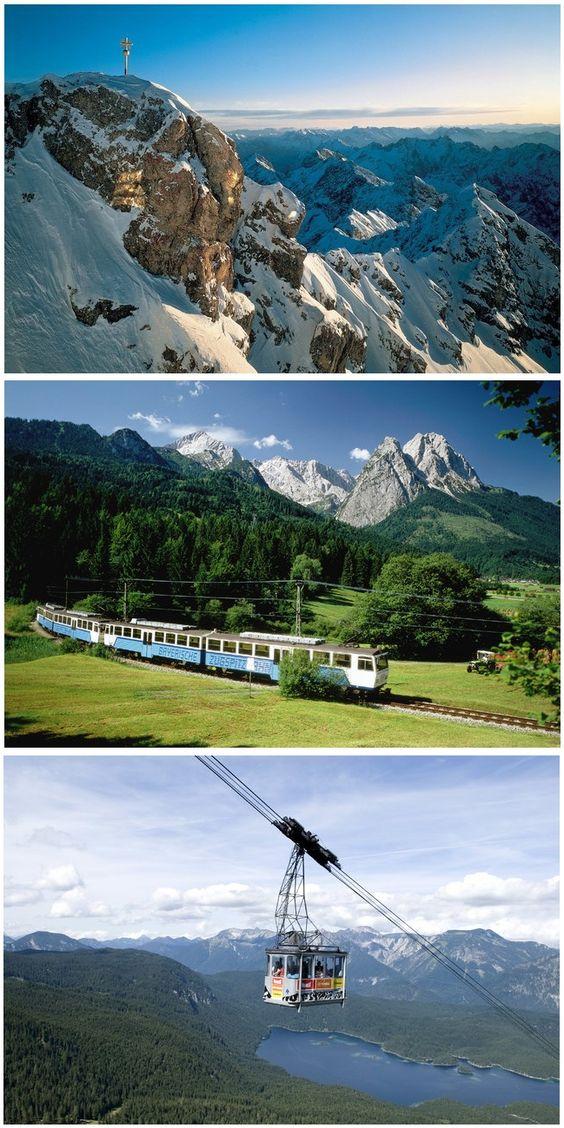 Zugspitze Bayrische Zugspitzbahn Seilbahn
