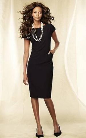 Черное платье футляр фасоны