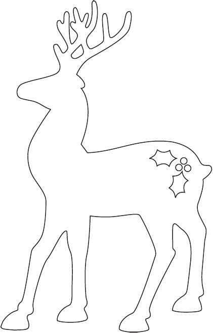 Reindeer Ornament Template--use as a form to iris fold!