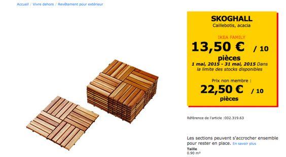 Ikea d tournement de meubles ikea and spas on pinterest for Caillebotis ikea exterieur