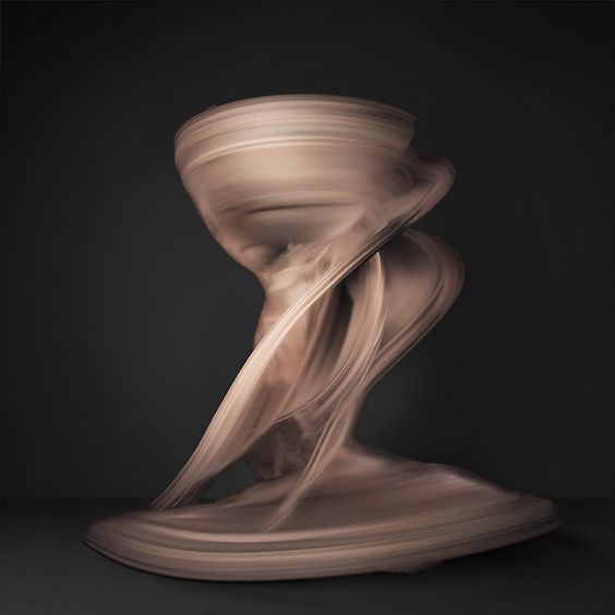 Shinichi Maruyama is experimenting with a new process unique to this era of photographic technology. Using a camera that shoots 2,000 images per second, she photographs moving figures and layers up to 10,000 photos into one single breathtaking picture.