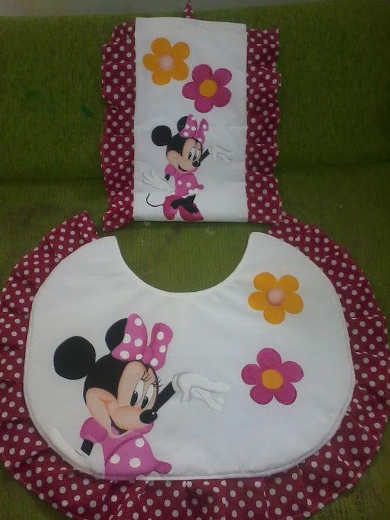 Juegos De Baño Tejidos:Juego de baño Minnie Mouse wwwfacebookcom/LuloPirata