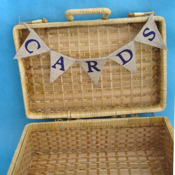 Natural Burlap and Purple CARD Bunting G0433 shabby by HARTfeltart, $13.00: G0433 Shabby, Wedding Decorations, Wedding Ideas, Bunting G0433, Card Bunting, Natural Burlap, Purple Cards, Shabby Chic Weddings