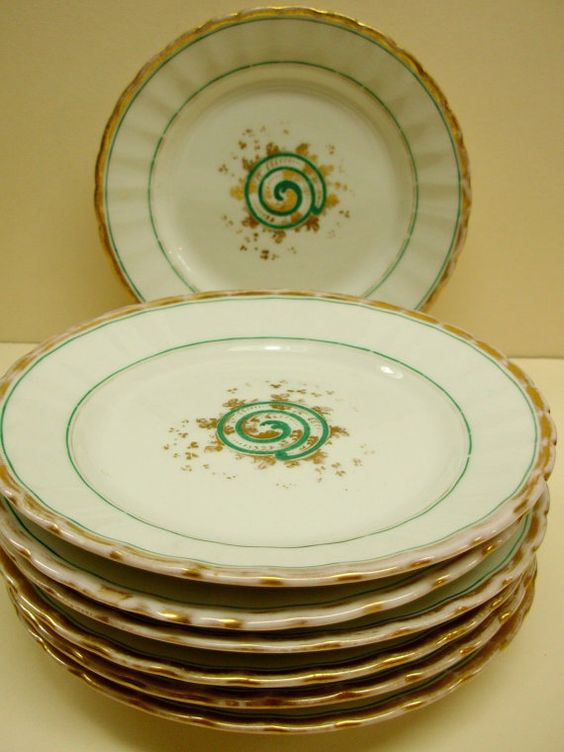 KPM Krister China Plates Germany Gilded by Snowyowltreasures