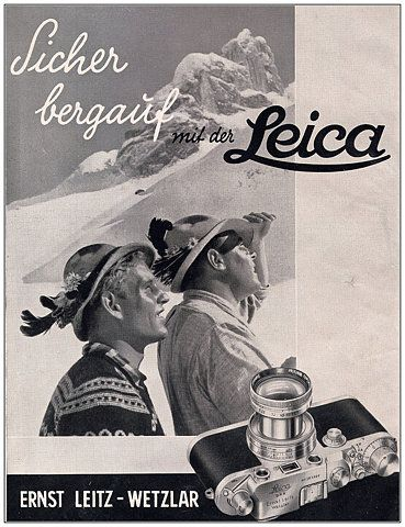 1941 ad for Leica camera